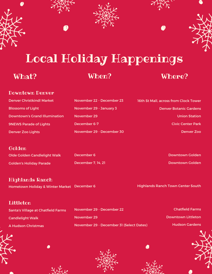 Local Holiday Happenings